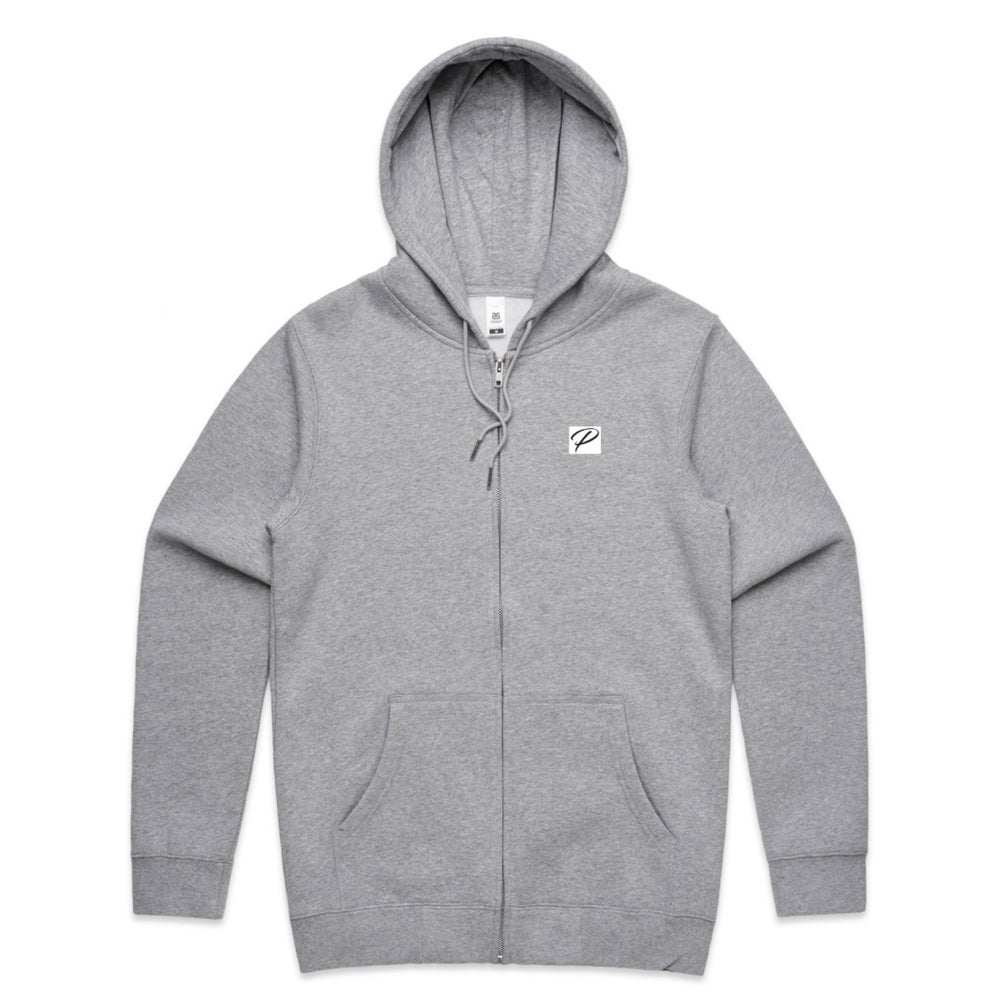 NEW BRAND PRODIGY GREY ZIP HOODIE P PATCH EMBROIDERED
