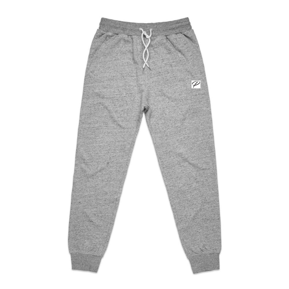NEW BRAND PRODIGY GREY JOGGERS P PATCH EMBROIDERED