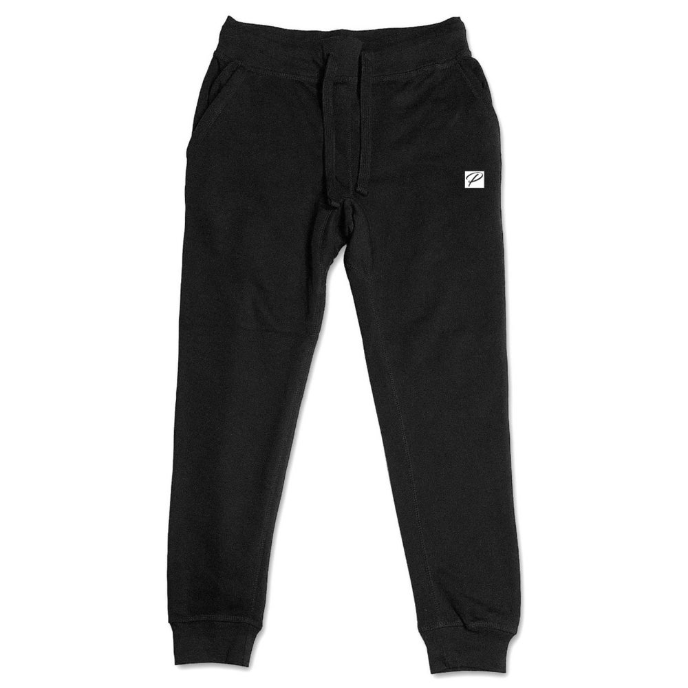 NEW BRAND PRODIGY BLACK JOGGERS P PATCH EMBROIDERED