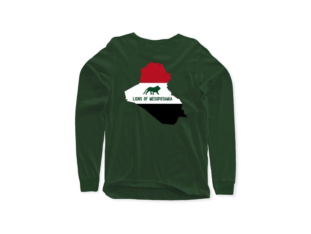 "Iraq ""Lions Of Mesopotamia"" Long Sleeve Tee"