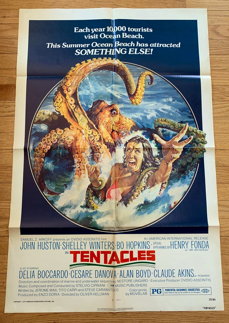 Image of 1977 TENTACLES Original U.S. One Sheet Movie Poster