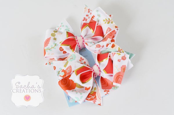 Image of Set of 2 Coral bows