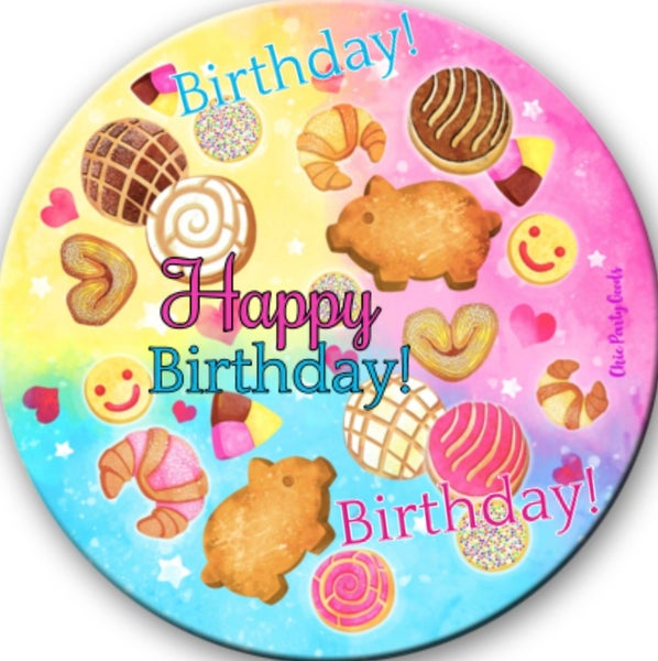 Image of Pan Dulce Birthday Button✨Pre-order✨