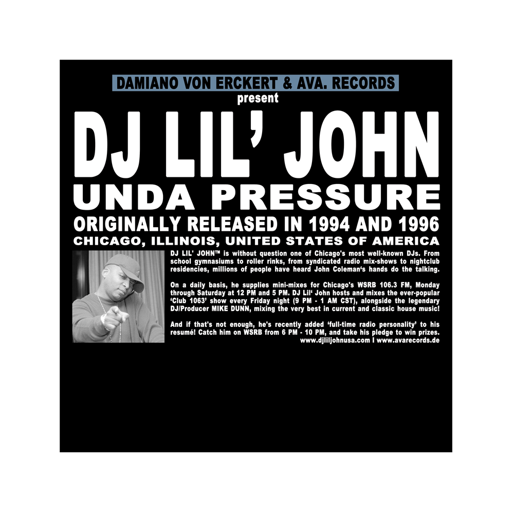 Image of DJ LIL' JOHN / UNDA PRESSURE / AVA.017