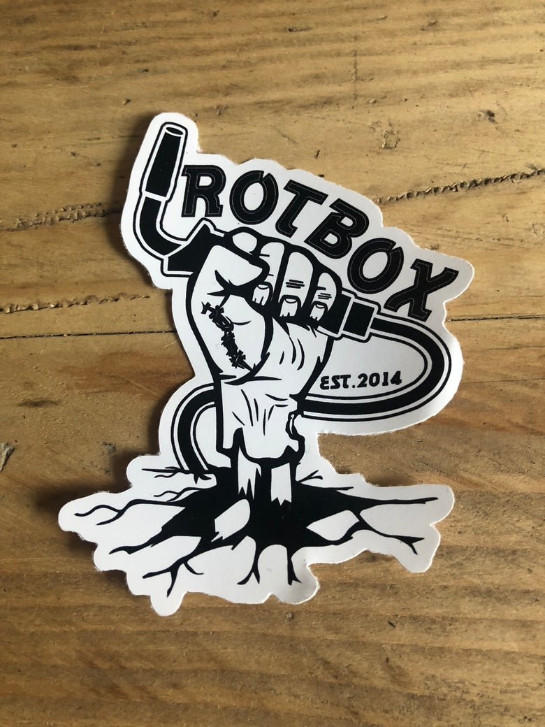 Image of Rotbox Zombie Welder Vinyl Sticker