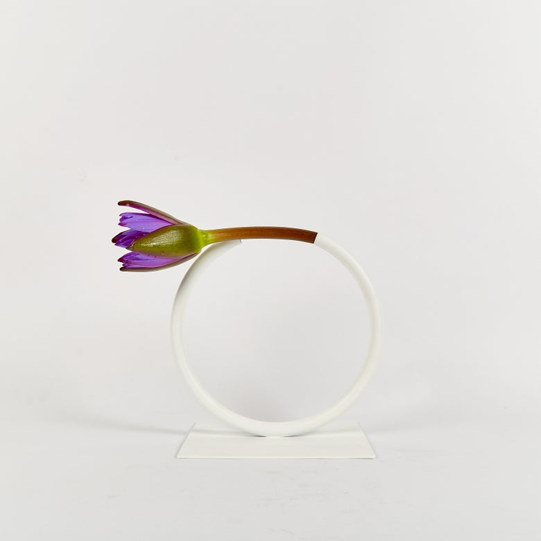Image of Small, WHITE Almost a CIrcle Vase