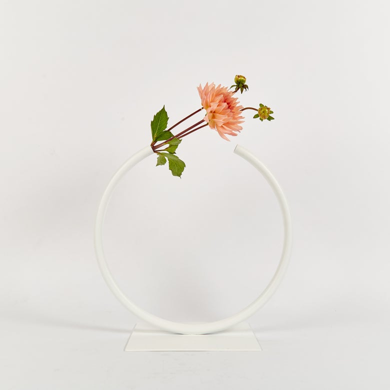 Image of Medium, WHITE Almost a CIrcle Vase