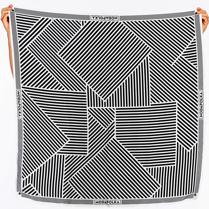 Image of DAZZLE SMALL Silk Scarf