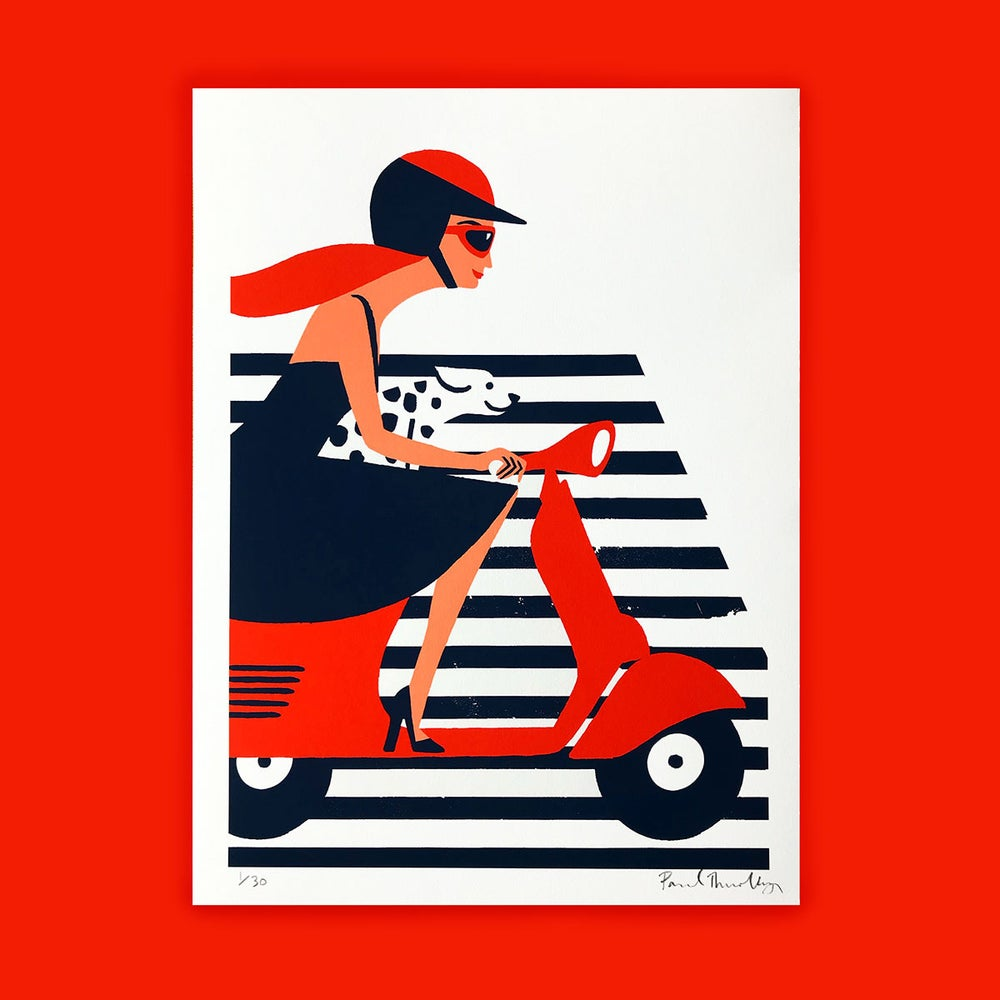 Image of Red Vespa