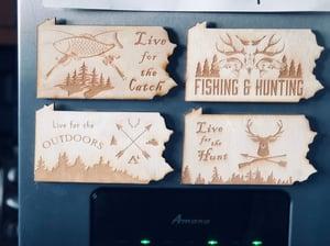 Image of Outdoorsman PA Wood Magnet