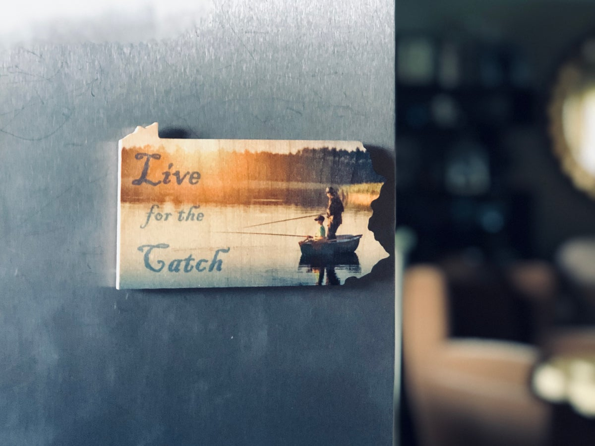 Image of PA Color Fishing Wood Magnet