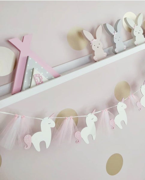 Image of Unicorn & Tulle bunting.