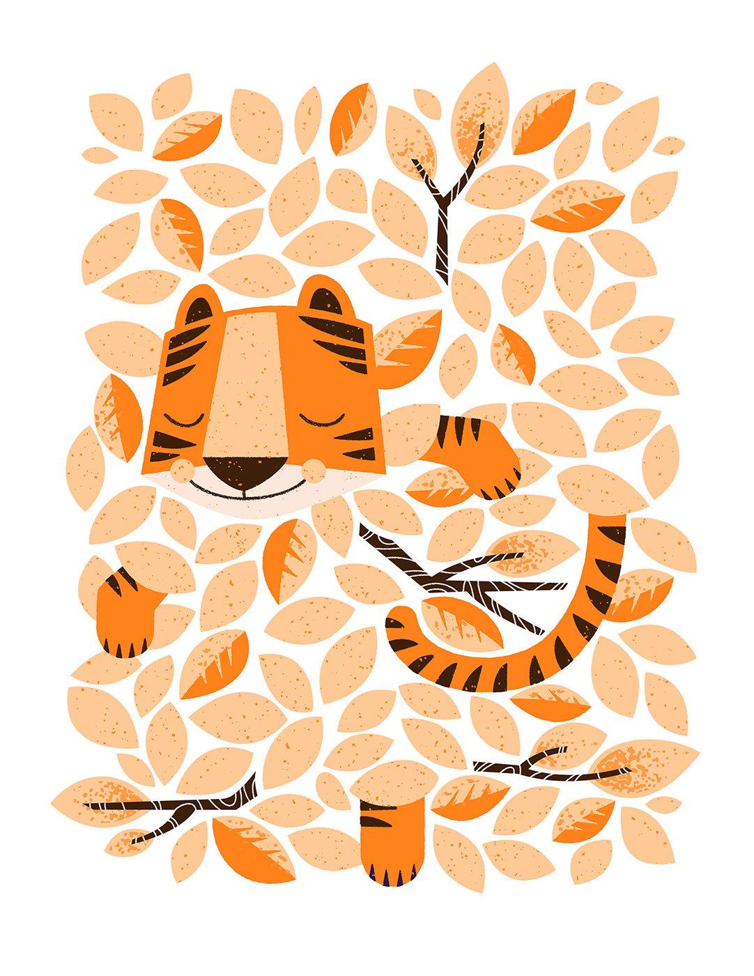 Image of Dors bien petit tigre | Sleep Tight Tiger