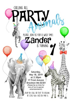 Image of Party Animal invitations & Board, Twinkle Twinkle Shower tags