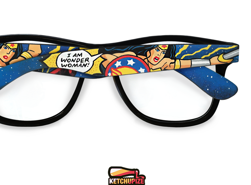 Image of Custom Wonder woman glasses/sunglasses by Ketchupize