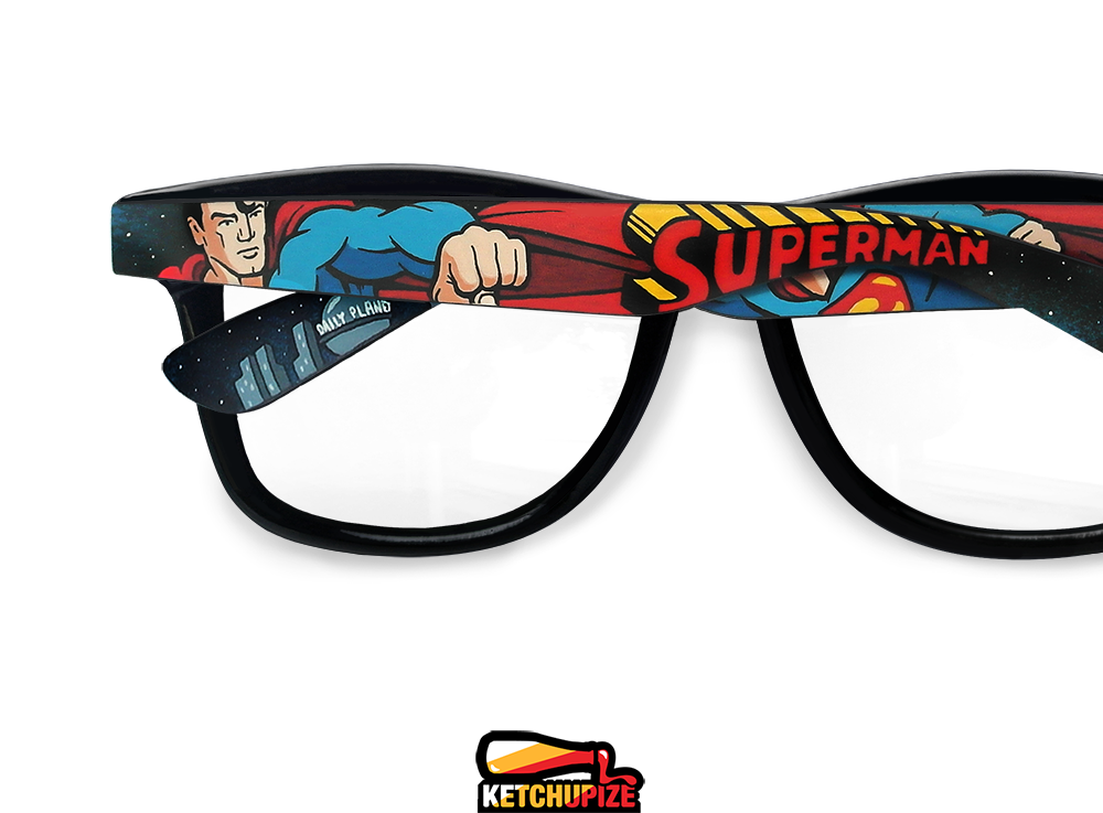 Image of Custom Superman glasses/sunglasses by Ketchupize