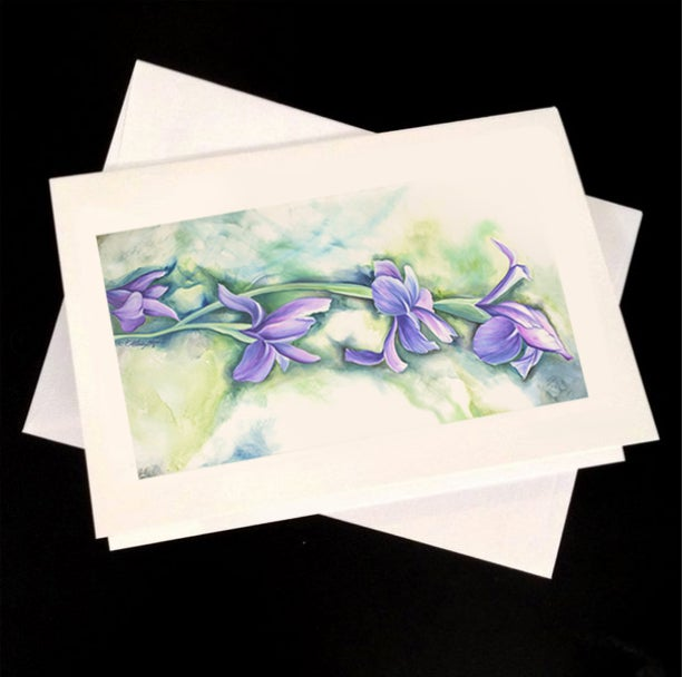 Image of Irises 5-Pack Greeting Card Set
