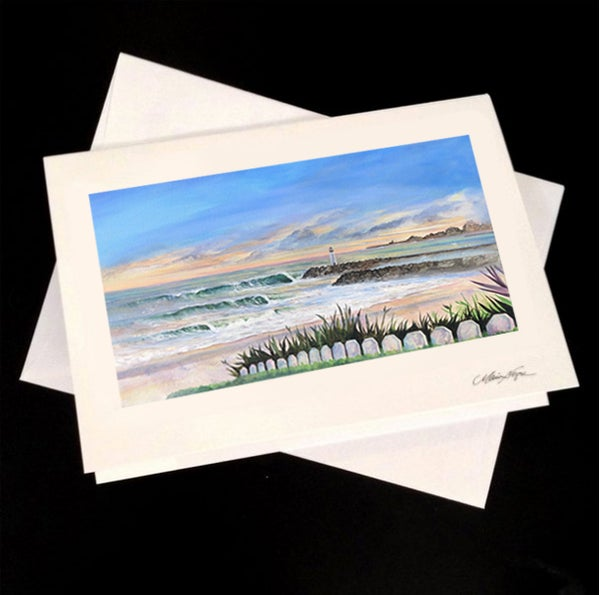 Image of Santa Cruz Harbor 5-Pack Greeting Card Set