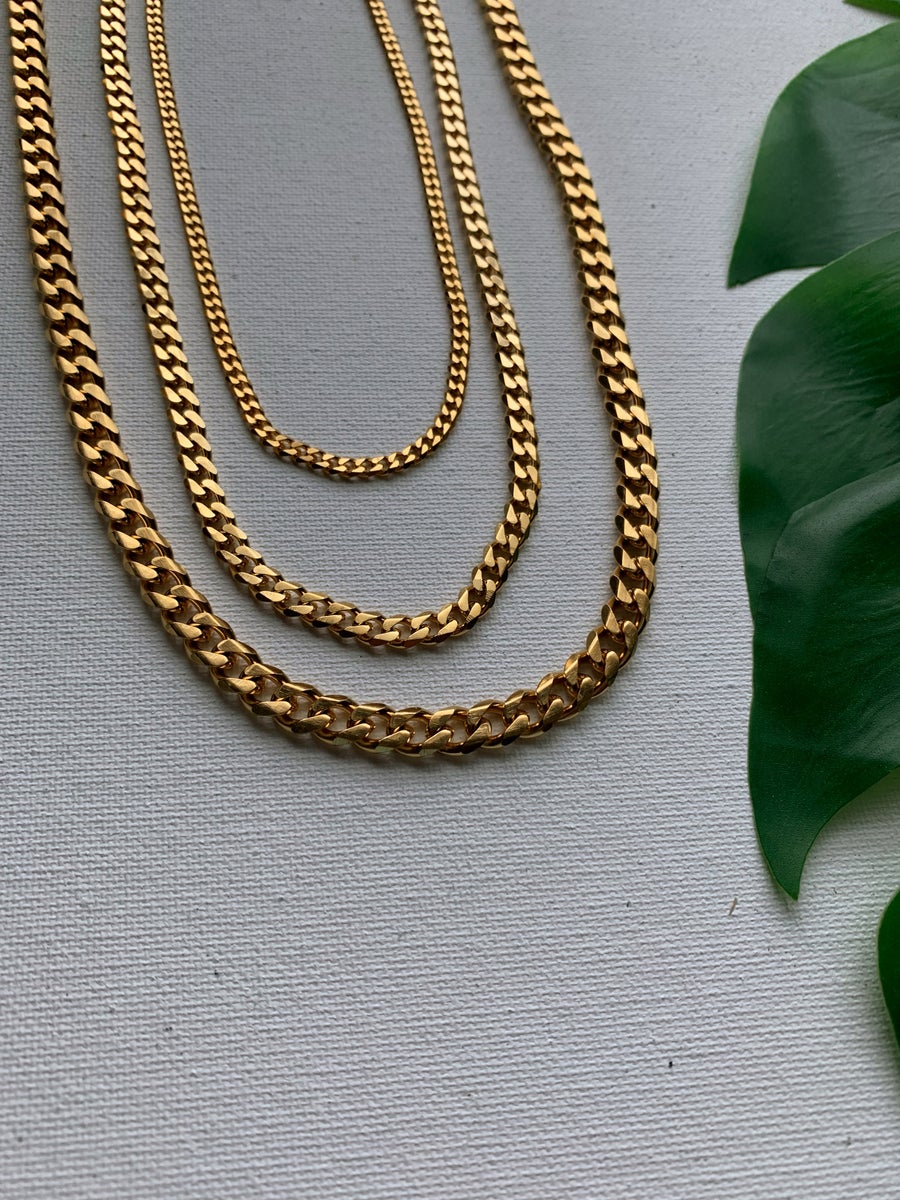 Image of SAY LESS • Cuban link necklace | Stainless Steel