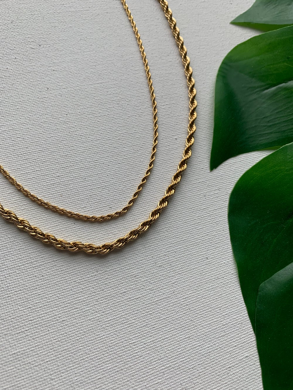 Image of SAY WHAT • Rope Necklace   Stainless Steel