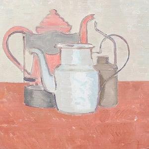 Image of Swedish Painting, 'The Red Table,' SÖLVE OLSSON