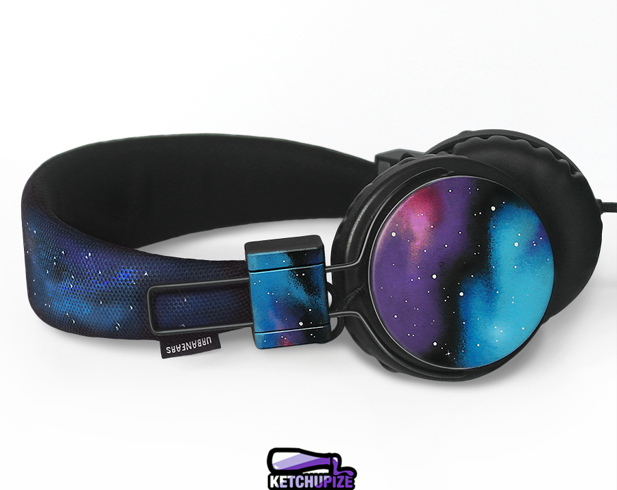 Image of Custom Galaxy headphones by Ketchupize