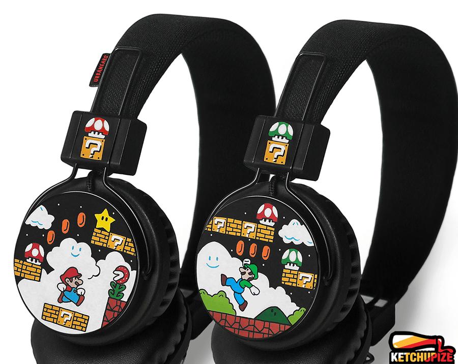 Image of Custom Mario headphones by Ketchupize