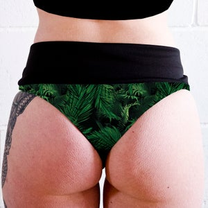 Image of Palms High Waisted Twerk Thong Shorts