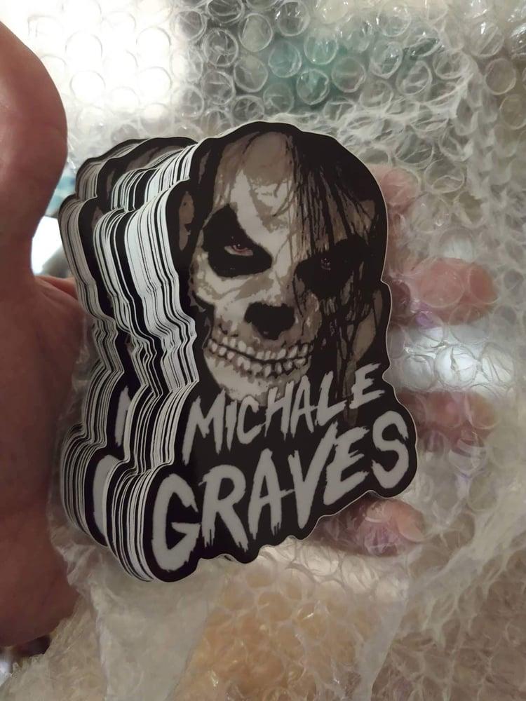 Image of Michale Graves Die Cut Skelcrow decal