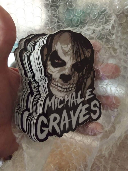 Image of Michale Graves Die Cut Skelcrow decal