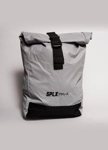 Image of Reflective Roll-Top Backpack
