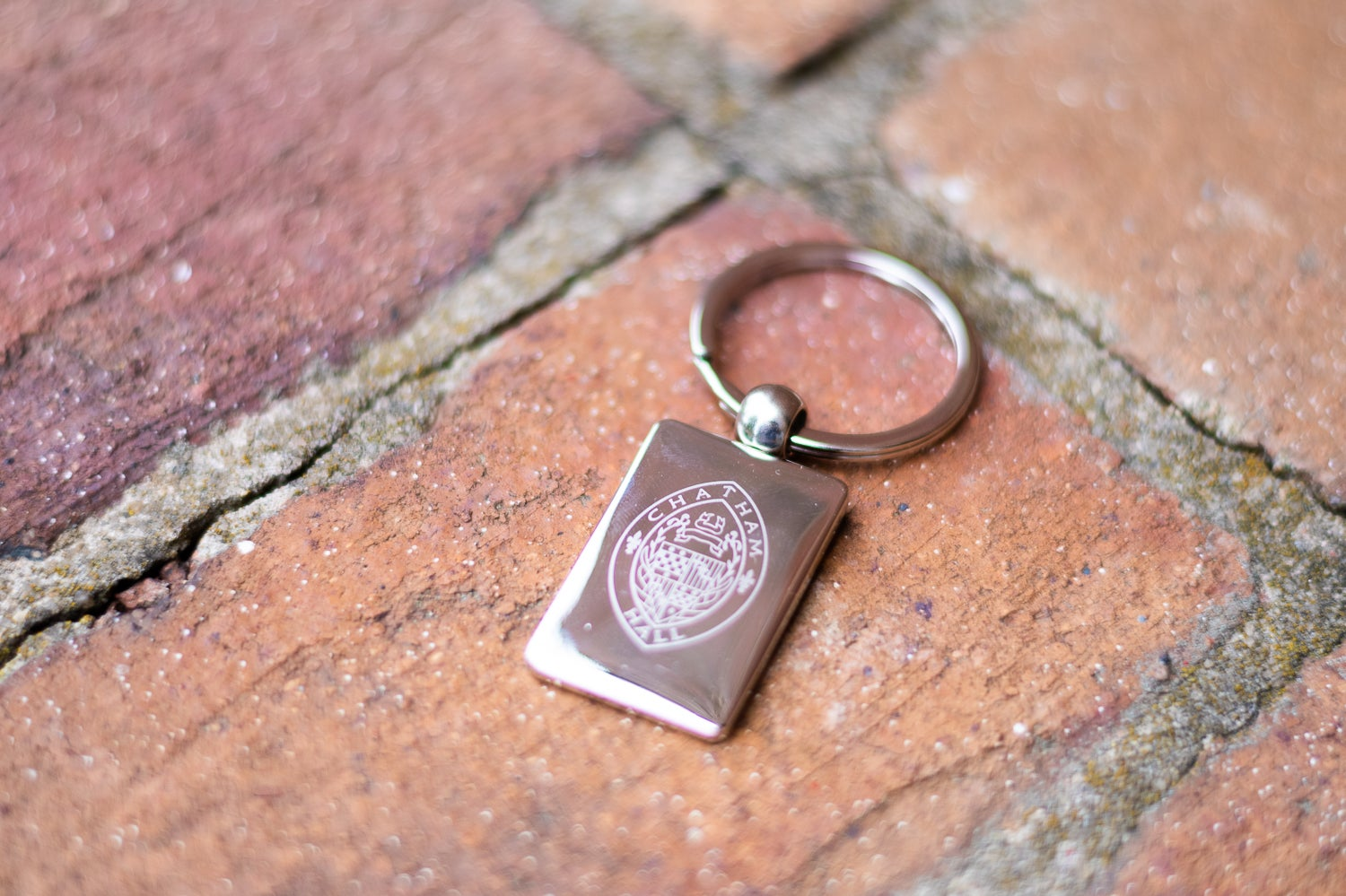 Image of School Seal Silver Keychain