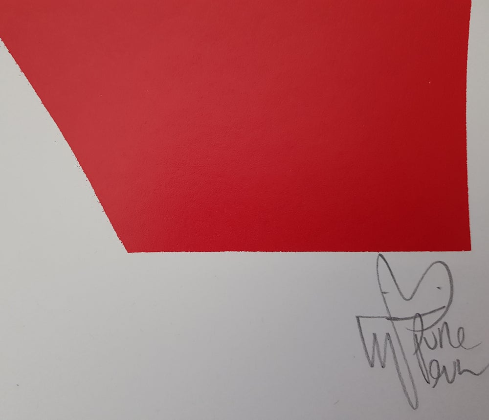 "Image of PURE EVIL ""LIZ LOVES RICHARD"" - RED LTD ED 100 - 70CM X 85CM"