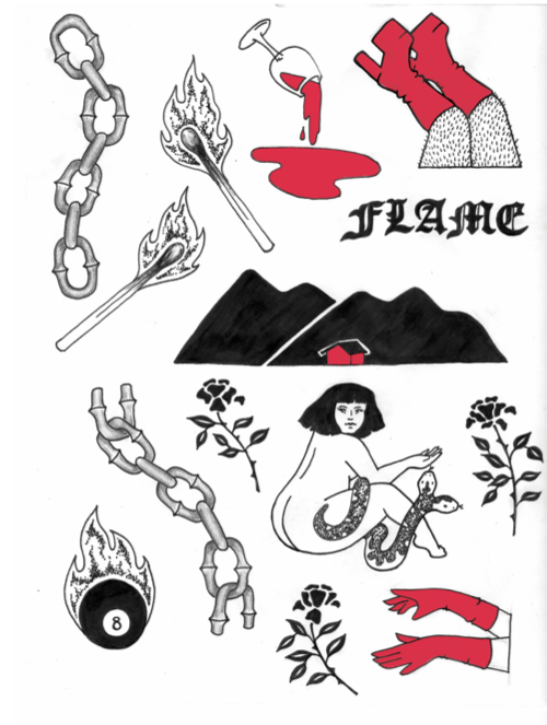 Image of Flame Sticker Pack
