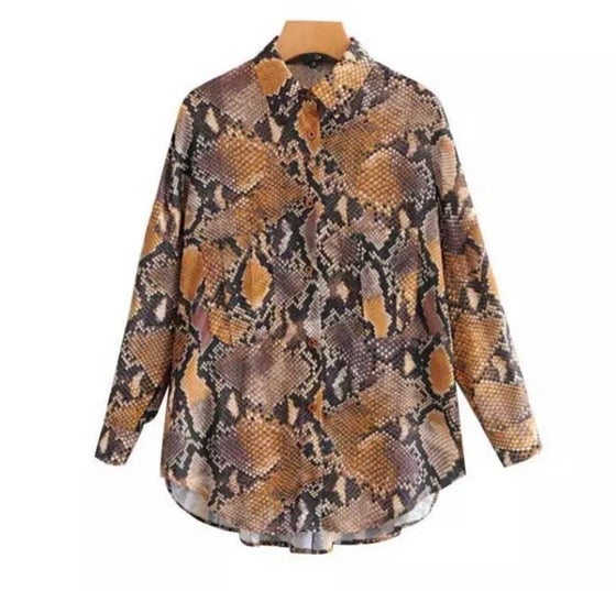 Image of Snakeprint Blouse