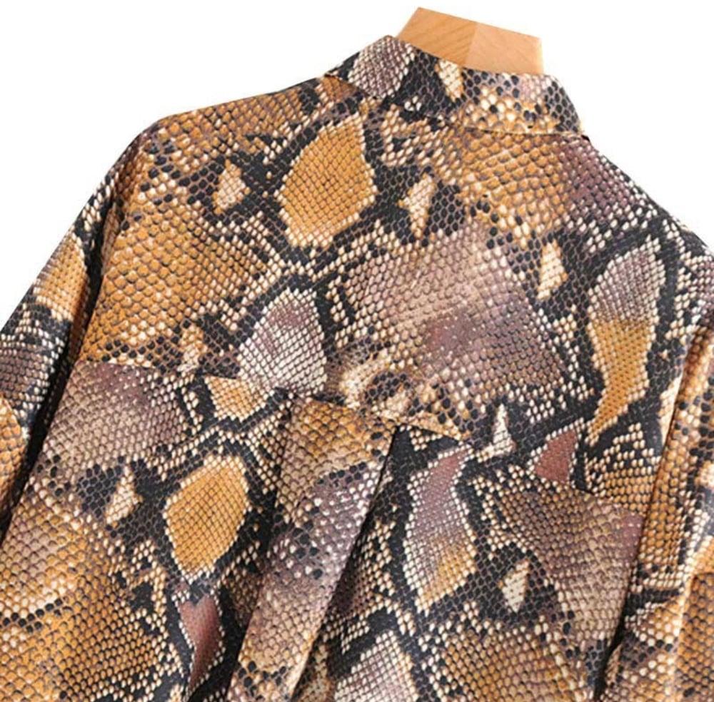 Image of Snakeprint Blouse
