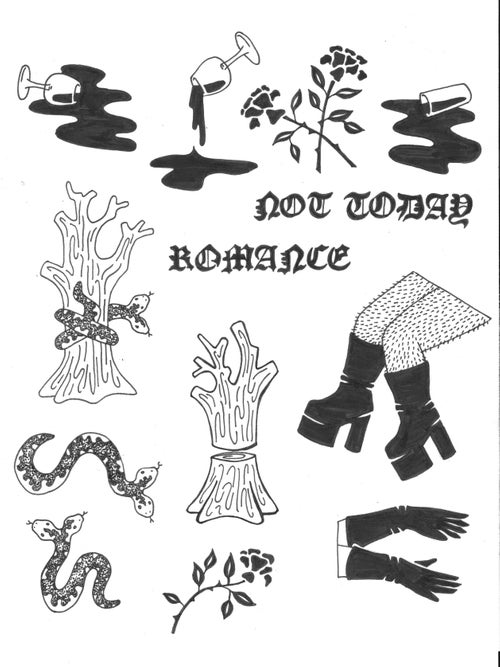Image of Not Today, Romance // Sticker Pack