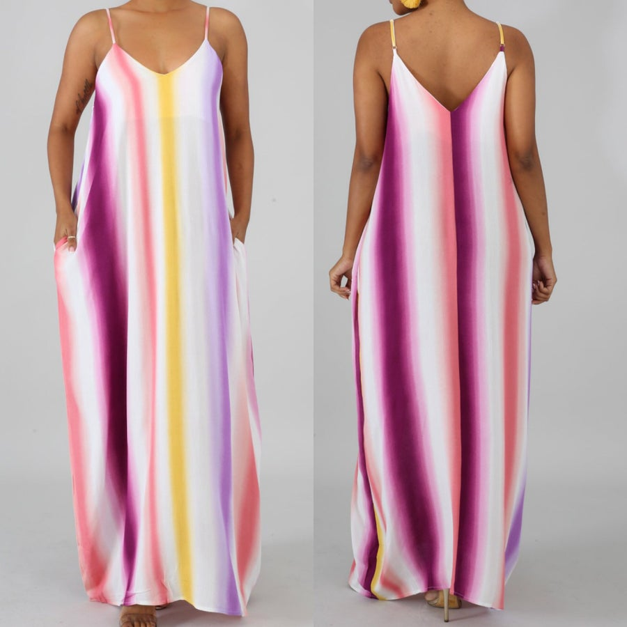 Image of Multi stripe maxi