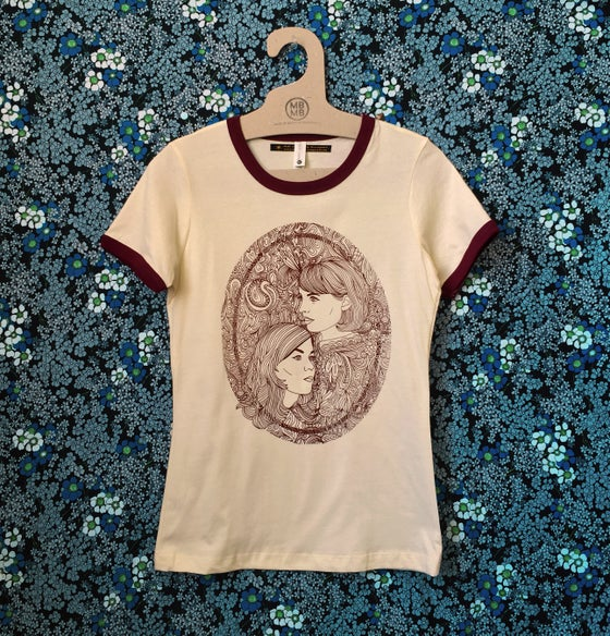 Image of Karen and Georgia - Ladies Ringer Tee
