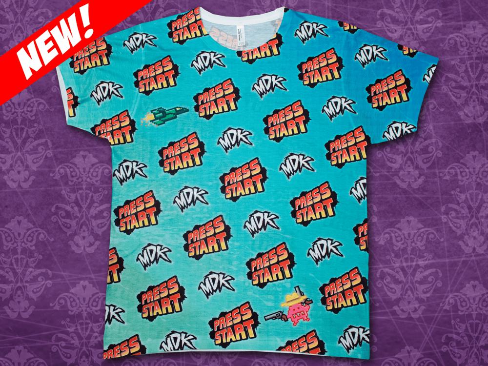 Image of Press Start - Tile Print T-Shirt