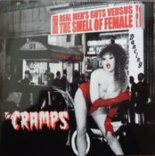 Image of LP The Cramps : Real Mens Guts Vs Smell Of Female Vol 1.  Red & Black Splatter vinyl.