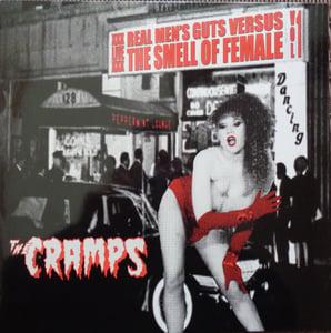 Image of LP The Cramps : Real Mens Guts Vs Smell Of Female Vol 1.  Red & Black Splatter vinyl.