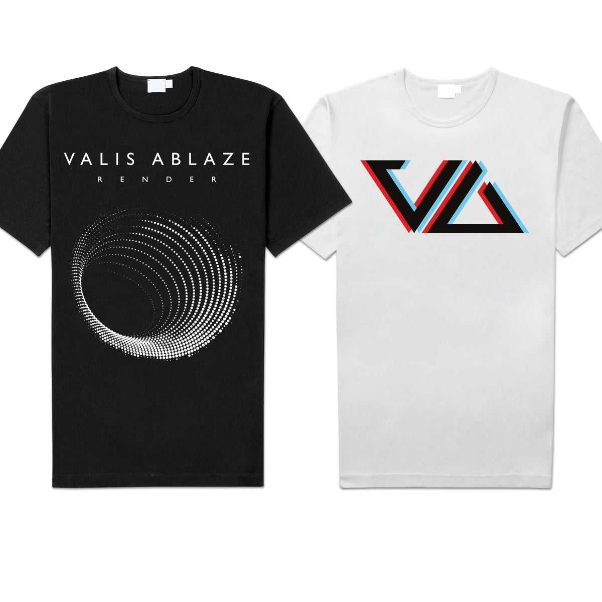 "Image of Valis Ablaze ""Tunnel"" / ""Logo"" Shirts"