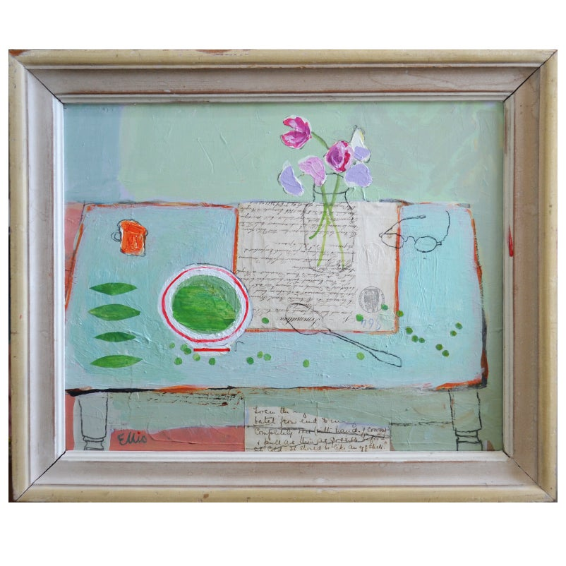 Image of Contemporary Painting, 'Sweet Peas,' Poppy Ellis