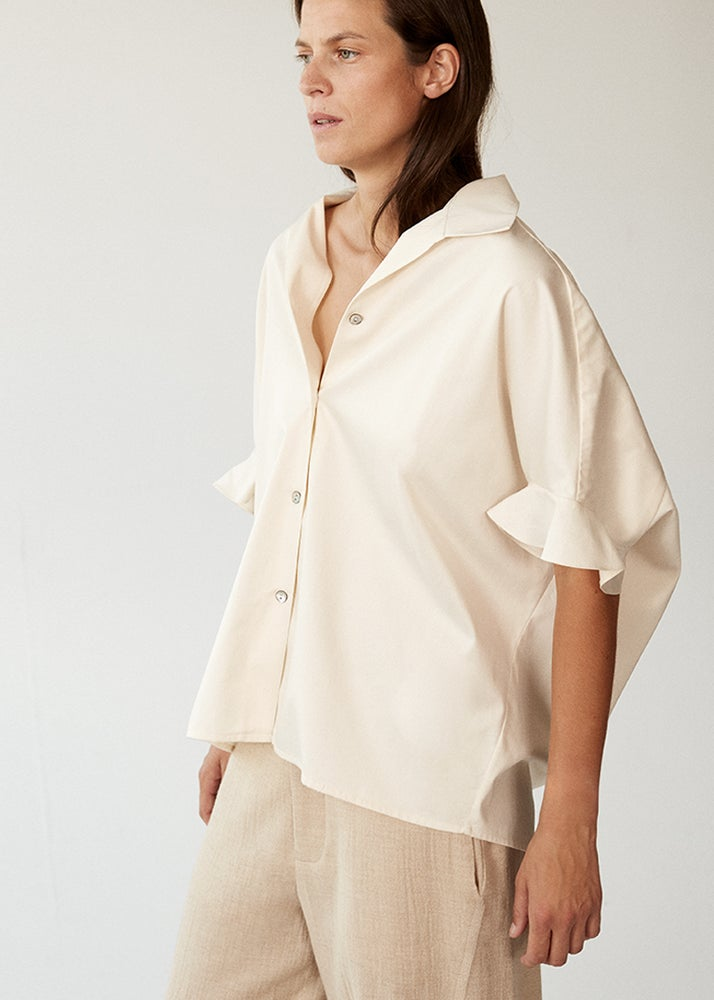 Image of 01-3 50's Frill Cocoon Shirt