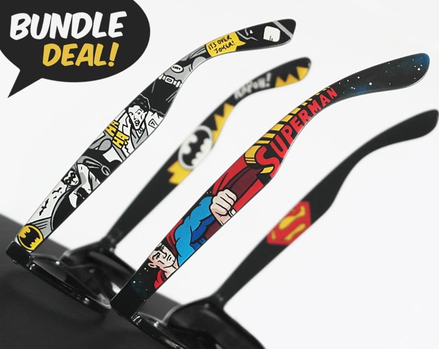 Image of Batman and Superman sunglasses bundle by Ketchupize