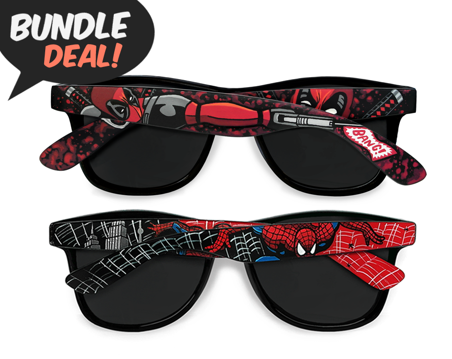 Image of Deadpool and Spiderman sunglasses bundle by Ketchupize