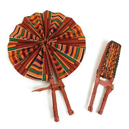 Image of Handmade African Fans made In Ghana 🇬🇭