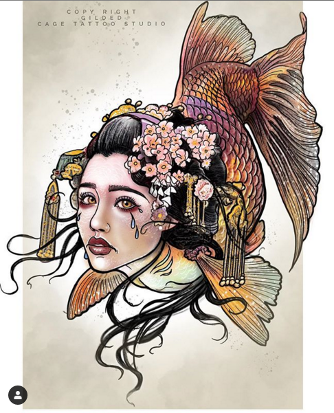 Image of Crying Geisha Fish