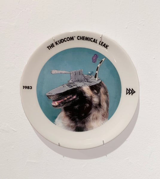 Image of The Kudcom Chemical Leak 1983 Commemorative Plate